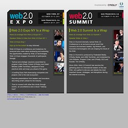 Web 2.0 Events: Co-produced by UBM TechWeb and O'Reilly Conferen
