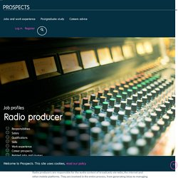 Radio producer job profile