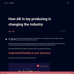 How AR in toy producing is changing the industry