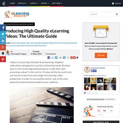 Producing High Quality eLearning Videos: The Ultimate Guide