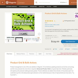 Product Grid & Bulk Actions