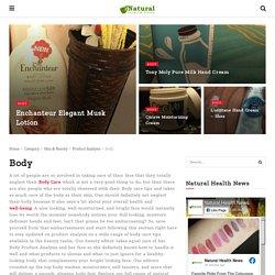 Body Product Analysis