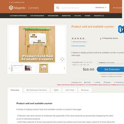 Product sold and available counter - Magento Connect