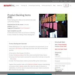 Product Backlog Item (PBI)