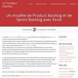 Un modèle de Product Backlog et de Sprint Backlog avec Excel – Le Touilleur Express