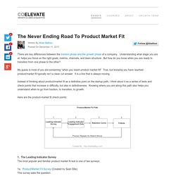 The Never Ending Road To Product Market Fit