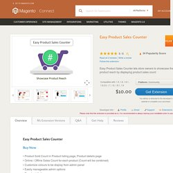 Easy Product Sales Counter - Magento Connect