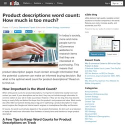 Product descriptions word count: How much is too much?