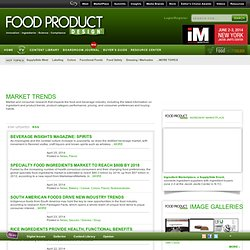 Food Product Design - Market Trends