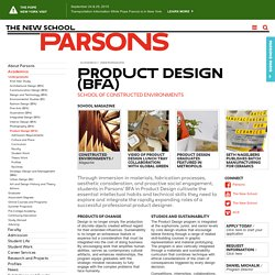 Product Design BFA at Parsons The New School for Design