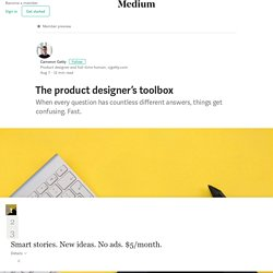 The product designer's toolbox – Cameron Getty