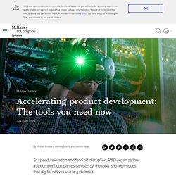 Product development for the digital economy