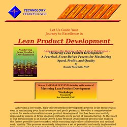 Lean Product Development Resource Center