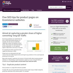 Five SEO tips for product pages on Ecommerce websites