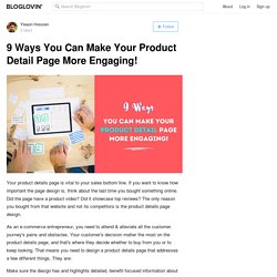 9 Ways You Can Make Your Product Detail Page More Engaging!