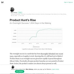 Product Hunt's Rise – Ben Gelsey – Medium