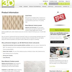 Product Information - 3D Wall Panels