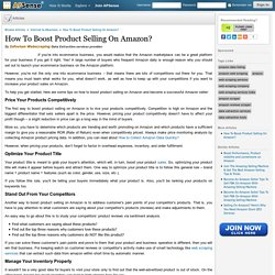 How To Boost Product Selling On Amazon? by Infovium Webscraping