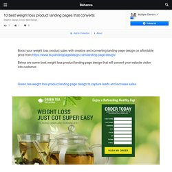 10 best weight loss product landing pages that converts on Behance