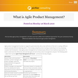 What is Agile Product Management?