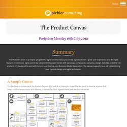 A Product Canvas for Agile Product Management