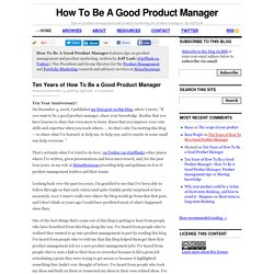 How To Be A Good Product Manager: Product management tips