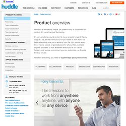 About Huddle - work more efficiently by managing projects, files and people in the cloud