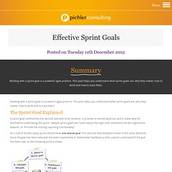 The Product Owner's Guide to Effective Sprint Goals