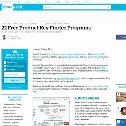 14 Free Product Key Finder Programs