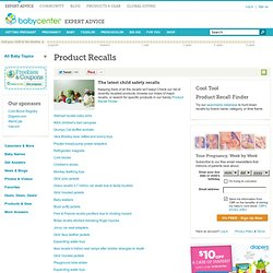 Child product recalls