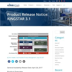 Product Release Notice: KINGSTAR 3.1 - KINGSTAR