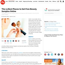 Best Places to Get Free Beauty Product Samples Online