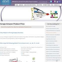 Scrape Amazon Product Price, Buy Box Price Scraping, List Price Extract from Amazon