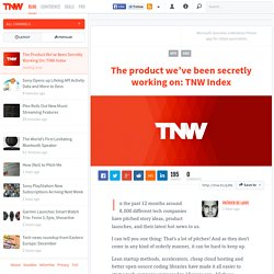 The Product We've Been Secretly Working On: TNW Index