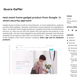 nest smart home gadget product from Google : A smart security approach