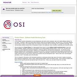 Product Owner - Software Health Monitoring Tools Job in Salt Lake City 84123, Utah US