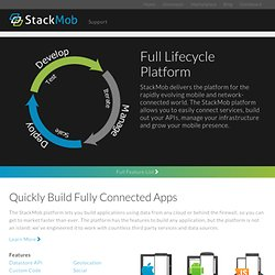 Product :: Backend for Mobile Apps. Simple, Powerful, Complete. The Technology Stack For Mobile Applications.