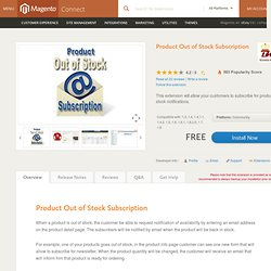 Product Out of Stock Subscription - Site Management