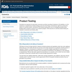 FDA 10/06/14 Product Testing