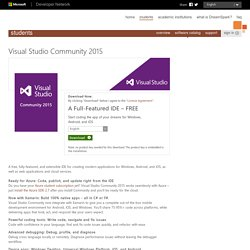 Product Visual Studio Community 2015