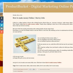 ProductBucket - Digital Marketing Online Products : How to make money Online