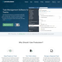 Online Task Management - Producteev
