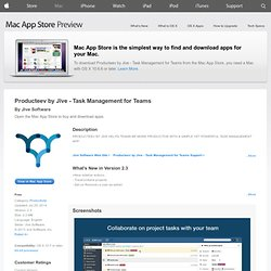 Mac App Store - Producteev