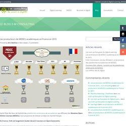 Les producteurs de MOOCs académiques en France en 2015 - e-m consulting