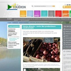 Vente-directe : carte des producteurs couëronnais - Mairie de Couëron