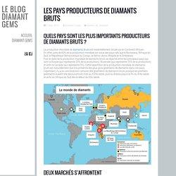 Les Pays Producteurs de Diamants Bruts - Le Blog Diamant Gems