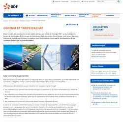 Producteurs d électricité - Contrats d achat - EDF en France