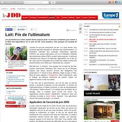 Lait: Fin de l'ultimatum - producteurs de lait ultimatum transformateurs