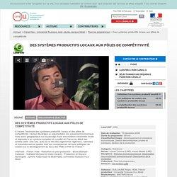 Des systèmes productifs locaux aux pôles de compétitivité - Canal Géo - Université Toulouse Jean Jaurès-campus Mirail