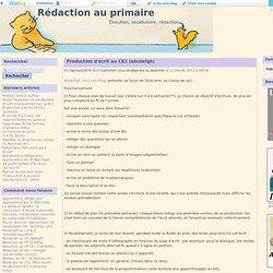 Production d'écrit au CE2 (abcdefgh) - Rédaction au primaire
